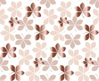 Abstract gold fall leaves pattern vector illustration. tender el. Egant celebration style decorative seamless pattern. background design Royalty Free Stock Photography