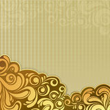 Abstract gold floral background Royalty Free Stock Photography