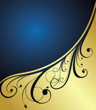 Abstract gold floral banner Stock Photo