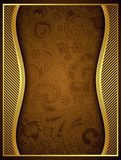 Abstract Gold Floral Frame Background Royalty Free Stock Photography