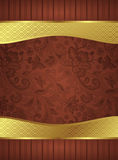 Abstract Gold and Floral Frame Background Royalty Free Stock Photos
