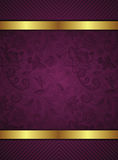 Abstract Gold and Floral Frame Background Stock Photo
