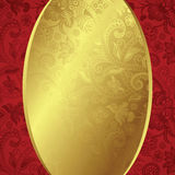 Abstract Gold and Floral Frame Background Royalty Free Stock Image