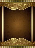 Abstract Gold Floral Frame Stock Image