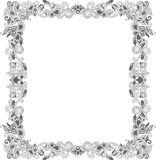Abstract Gold and Floral Frame Royalty Free Stock Image