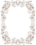 Abstract Gold and Floral Frame Stock Images