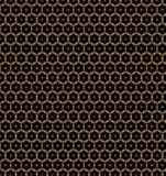 Abstract gold flower pattern wallpaper Royalty Free Stock Image