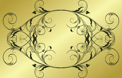 Abstract gold frame Royalty Free Stock Photo