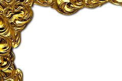 Abstract gold frame. Stock Photography