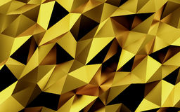 Abstract gold geometric background. Gold texture with shadow. 3D render. Ing Stock Photos