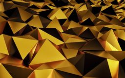 Abstract gold geometric background. Gold texture with shadow. 3D render. Ing Royalty Free Illustration