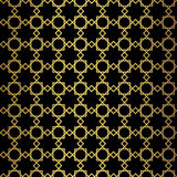 Abstract gold geometric pattern. Vintage style texture. Stock Image