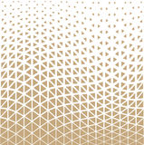 Abstract gold geometric triangle design halftone pattern Stock Photography