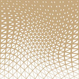 Abstract gold geometric triangle design halftone pattern. Background Royalty Free Stock Images