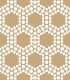 Abstract gold geometric triangle design hexagon dots pattern Stock Photo
