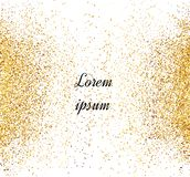 Abstract gold glitter background. Bright sparkles for card.  vector illustration
