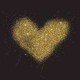 Abstract gold glitter background for the card, invitation, broch Royalty Free Stock Images