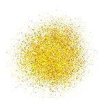 Abstract gold glitter background. Shiny sparkles for card.  stock images