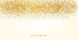 Abstract gold glitter background. Shiny sparkles for card.  royalty free illustration