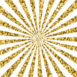 Abstract gold glitter background. sparkles and white rays. Stock Photos