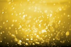 Abstract gold glitter bokeh. concept christmas and new year Stock Photography