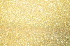 Abstract Gold Glitter Bokeh Lights With Soft Light Background Stock Photos