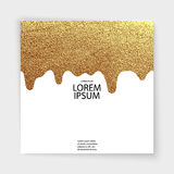 Abstract gold glitter geometric vector background. Trendy modern and stylish minimal design for poster, cover, card, broshure, banner. Cool pattern Royalty Free Stock Photography