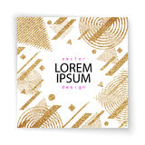 Abstract gold glitter geometric vector background. Trendy modern and stylish minimal design for poster, cover, card, broshure, banner. Cool pattern Stock Photo