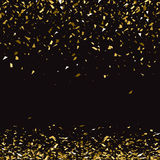 Abstract gold glitter splatter background for the card Stock Image