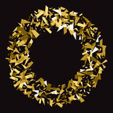 Abstract gold glitter splatter background for the card Royalty Free Stock Photography