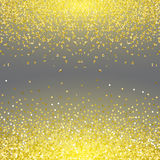 Abstract gold glitter splatter background for the card, invitation, brochure, banner, web design Stock Image