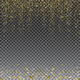 Abstract gold glitter splatter background for the card, invitation, brochure, banner, web design Royalty Free Stock Images