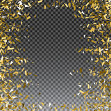Abstract gold glitter splatter background for the card, invitation, brochure, banner, web design Royalty Free Stock Photography