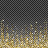 Abstract gold glitter splatter background for the card, invitation, brochure, banner, web design Royalty Free Stock Image