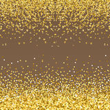 Abstract gold glitter splatter background for the card, invitation, brochure, banner, web design Stock Photos