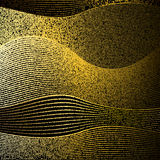 Abstract gold glitter wave vector background Royalty Free Stock Images