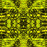 Abstract gold and green pattern with stylized reptile scales Royalty Free Stock Images