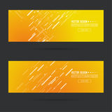 Abstract gold header. Abstract gold header with dynamic diagonal lines. Set  horizontal footer gradient colors from yellow to orange. Contemporary vector banner Stock Images