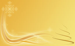 Abstract gold holiday background with christmas Stock Photo