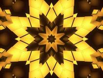 Abstract gold kaleidoscope animation stock footage