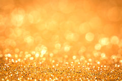 Abstract the gold light for holidays background Royalty Free Stock Photos