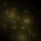 Abstract gold lights dark circles mosaic background. Stock Image