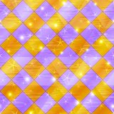Abstract gold and lilac seamless plaid Stock Photo