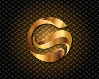Abstract Gold Logo Vector Royalty Free Stock Photography