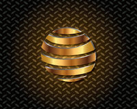 Abstract Gold Logo Vector Royalty Free Stock Images