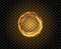 Abstract Gold Logo Vector. Elegant logo with gold abstract logo Stock Photo