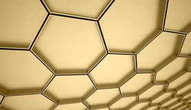 Abstract gold mesh background Stock Image