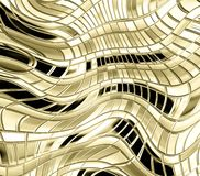 Abstract gold metal background Stock Photography