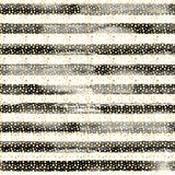 Abstract circles and stripes seamless pattern. Abstract gold metal confetti and black and white stripes seamless pattern. Luxury golden glittering grunge hand Stock Photography