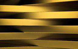Abstract gold panels with copyspace for text. 3D render Royalty Free Stock Photography